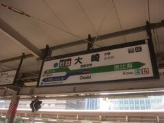 りんかい線に乗るため、大崎駅に