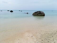岩が点在する海岸です