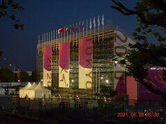 夢の大橋の聖火台目指して東へ歩くと青海アーバンスポーツパーク。 https://olympics.com/tokyo-2020/ja/venues/aomi-urban-sports-park