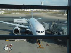 羽田空港国際線ターミナルから、上海へと向けて出発します。