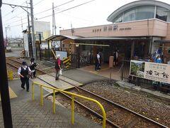 赤城駅の駅舎。上毛電鉄の管理駅。 駅舎に「おおまま 赤城駅」と書いてある。ここは、旧大間々町(現みどり市)。わたらせ渓谷鉄道の大間々駅からも歩いて10分ほどの距離。