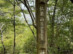 高取山から40分程で仏果山山頂へ到着。標高747mと少しこちらが高いですね!
