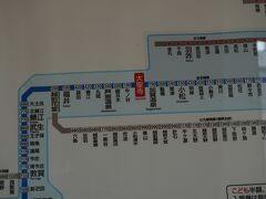 ●JR近距離切符案内板@JR大聖寺駅  今から、右方面へ進みます。 少しずつ、金沢に近づいていきます。