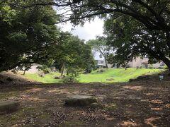 小田原城の総溝の一部、早川口遺構。