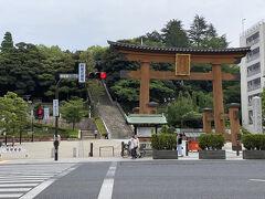 行くところもなかったので、二荒山神社前の広場で暇つぶし