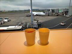 20回目のどこかにマイルは大阪です。 いつものように羽田空港のパワーラウンジでトマトジュースとカプチーノを飲んでから搭乗です。
