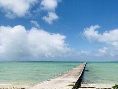 明日から台風だなんて信じられないくらい、 穏やかな夏の日な景色の伊古桟橋