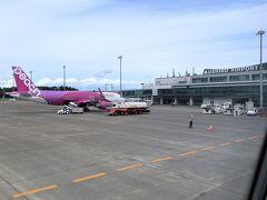 釧路空港には定刻より5分早く到着。