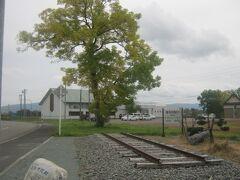 最後に、元の幌加内駅跡のレールモニュメントにも立ち寄ってから…。