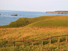 浜中町の「琵琶瀬展望台」から海岸線を眺める。 沖合にメガネ岩と言われる2つの穴の開いた岩があったが、地震によって崩れたそうだ。
