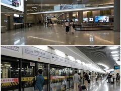 21:50 上海虹橋空港第2ターミナルに到着。 遅い時間のせいか空港内も静かです。 荷物が出てくるのをしばらく待ち、いつもの様に地下鉄で帰宅し22:50着。