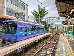 出町柳駅から叡山電車鞍馬線に乗ります(^^)