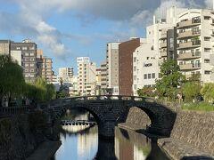 って事でこちらが正真正銘のめがね橋。 1634年ごろに造られた日本最古の石橋だそうです。 朝は観光客の姿もなく静かに見ることができます。
