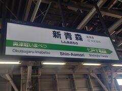 盛岡駅を出発して1時間で新青森駅に着きました。