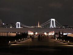 レインボーブリッジに東京タワー  綺麗な景色です