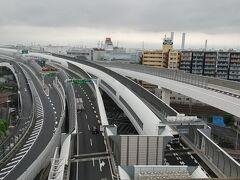子安台公園からの高速道路の眺め