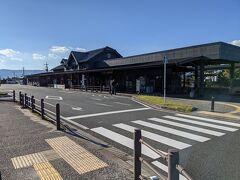 レンタカーを返して阿蘇駅に戻ってきました。