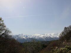 R406で白馬へ向かう途中のある白沢峠  天気がよかったので綺麗にみえました。