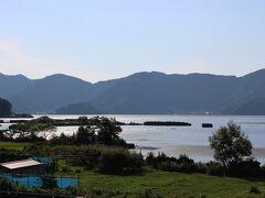 三方五湖 低い山々の谷間に、三方湖・水月湖・菅湖・久々湖・日向湖が存在しています・・