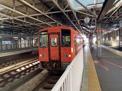 朝のランニングやって、 地元駅を出発して福井駅にやってきた。  ここから越美北線、通称「九頭竜線」に乗ります。 JRも通称の九頭竜線の名前を使っています。 さすがに越前と美濃がつながってないのに、 越美はないと思ったか。。。