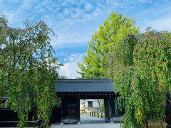 八幡平まで行ってみようか迷いましたが、結構時間がかかりそうだったので角館へ。  市営桜並木駐車場(500円)に車を停めて、武家屋敷通りに行ってみます。 写真は樺細工伝承館。 両側の木は枝垂れ桜です。