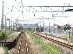 2021.07.25 福山ゆき普通列車車内 庭瀬に停車。