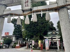 食後は歩いて川越八幡神社まで⛩