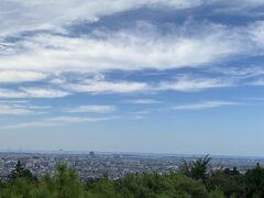 「卯辰山望湖台」からの景色