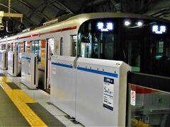 三宮---.  丁度【山陽電車】来てたんで撮りました(☆∀☆)?