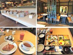 ◆ザミツイ京都◆ 朝食は1階のイタリアンレストランのFORNIで、和食をチョイス。 今回は2つのホテルで和食朝食の食べ比べ。 和食ですが、ホテル特製のクロワッサンが運ばれて・・パリパリ美味しい。  和食は京料理。焼き魚はサケを変更したらさわらの西京焼き、よかった。 どれも美味しいですが、前夜からなんだかお弁当続きって感じです。 味噌汁がちょっと残念かな・・ 個包装の梅干しは、和歌山湯浅の谷井農園のほのか、でした。甘い梅干し。  ※スプーンナイフなどカトラリーはハンマートーン仕上げ、WASABIのものです。 https://onze-giftshop.com/?mode=grp&gid=879832  首都圏マリオットでプラチナでこんなに美味しい無料朝食はありません。 お得です、関西。