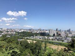青葉城から見た町