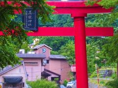 長岡でのお泊りは、いつもの(と言ってもま だ3回目 笑)越後の護湯よもぎひら温泉。 いつものように大鳥居がお出迎えデス!