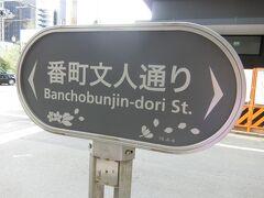 ここは麹町大通りと大妻通りを繋ぐ通りです。