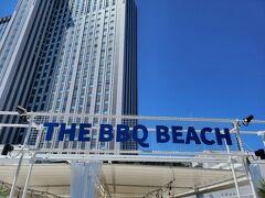 甥っ子姪っ子たちと、夏休みの終わりに ビーチBBQに行ってきました。  といってもほんとのビーチはいけないので LINKS梅田(ヨドバシ)の屋上です。