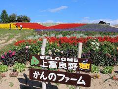 そして、同じ町内にある「かんのファーム」を訪れました。国道沿いでとても目立つ花畑です。