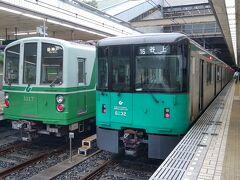 三宮到着後は続いて神戸市営地下鉄に乗車します。 以前、谷上から三宮まで乗車していますので、今日は残りの区間を片付けようと山手線の西神中央行きに乗車します。  途中からは神戸市営地下鉄とは思えない田園風景の地上区間を走り終点の西神中央駅へ。 駅前はバスターミナルになっていて明石方面へ抜けられるようですが、来た道を戻り新長田駅へ。