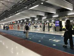 6:37、第3ターミナル到着 ※搭乗締め切り13分前 Webチェックインなので、そのまま手荷物検査へ