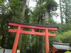 雨がパラパラと降る生憎のお天気。 芦ノ湖と箱根神社へ立ち寄ってみました。