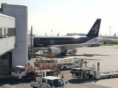 朝8:35羽田空港出発のスターフライヤーに乗りました。