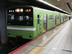 次なる目的地へ。 こちらはJR難波駅にて。 関東ではもう走っていない車両なので撮り鉄ではありませんが、 一枚だけ写真を撮りました。
