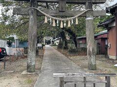 市内循環バスは1時間に一本でした。  古代蓮の里の次に降りたのは前玉神社⛩