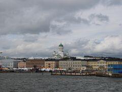 そして14時15分、ヘルシンキの象徴、ヘルシンキ大聖堂が近づいてきて、船は港に着岸。  さて、これからヘルシンキ本土の観光を楽しみますか。