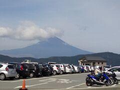 次の目的地大涌谷へ富士山がよく見えました。