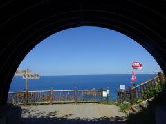 島武意海岸の上 トンネルを抜けた所。