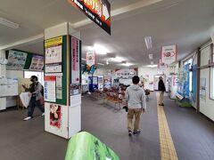 根室駅の内部です。昨日購入できなかった北の大地入場券を購入にやってまりました。