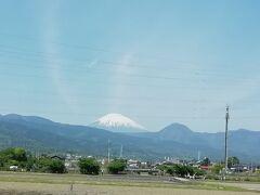 小田急のロマンスカーが好きなので、小田原までロマンスカー。 富士山が見えると嬉しくなる。