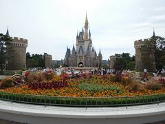 とりあえずシンデレラ城前に移動して、花壇とともにパチリ☆