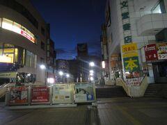 早朝の 松戸駅東口。   画面 奥がイトーヨーカドー。