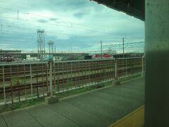 記念すべき最初の駅は東新潟。 奥に新潟貨物ターミナル駅。  ヒマだからここから仙台まで何駅あるのか数えてみた。 結果、61駅。数えるんじゃなかったわ。