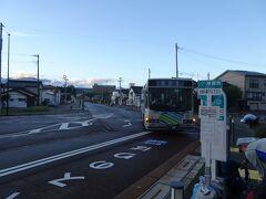 翌朝6時発のバスで蓮華温泉へ。乗客は10人くらい。